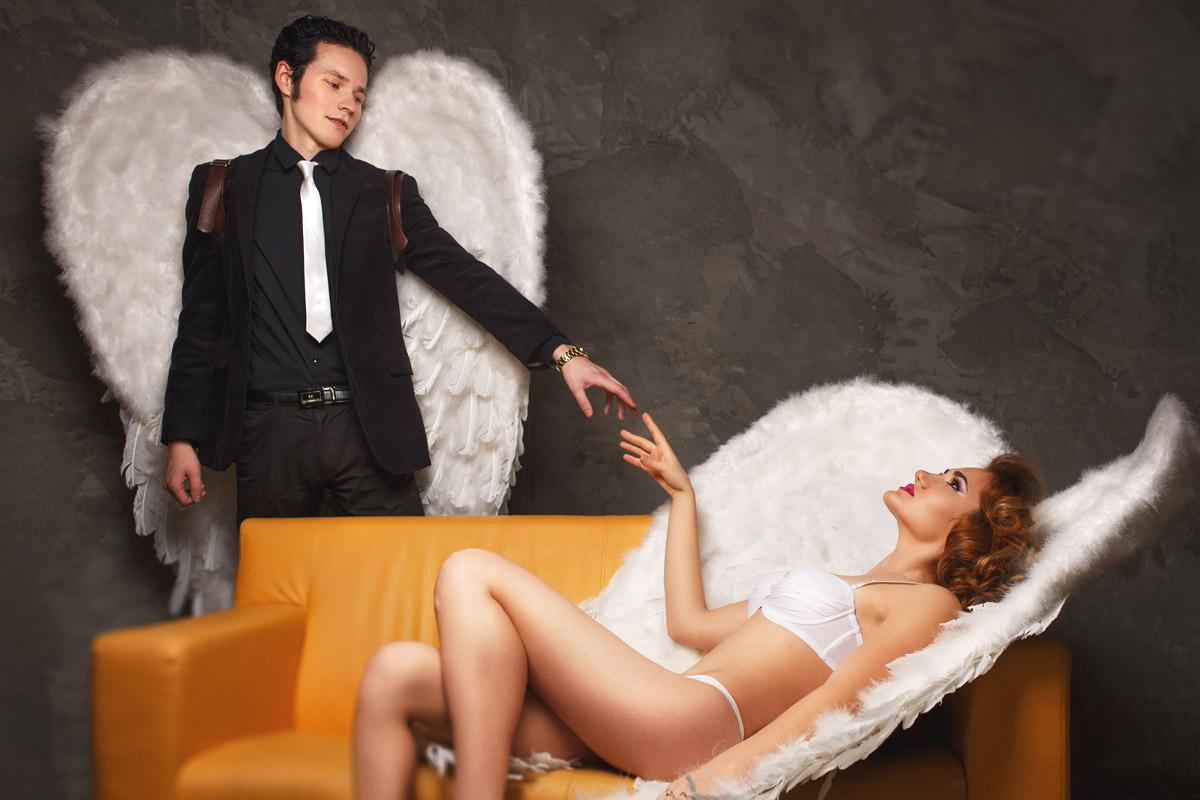 Ангелы. Концепт. Фотосессия в студии fashion