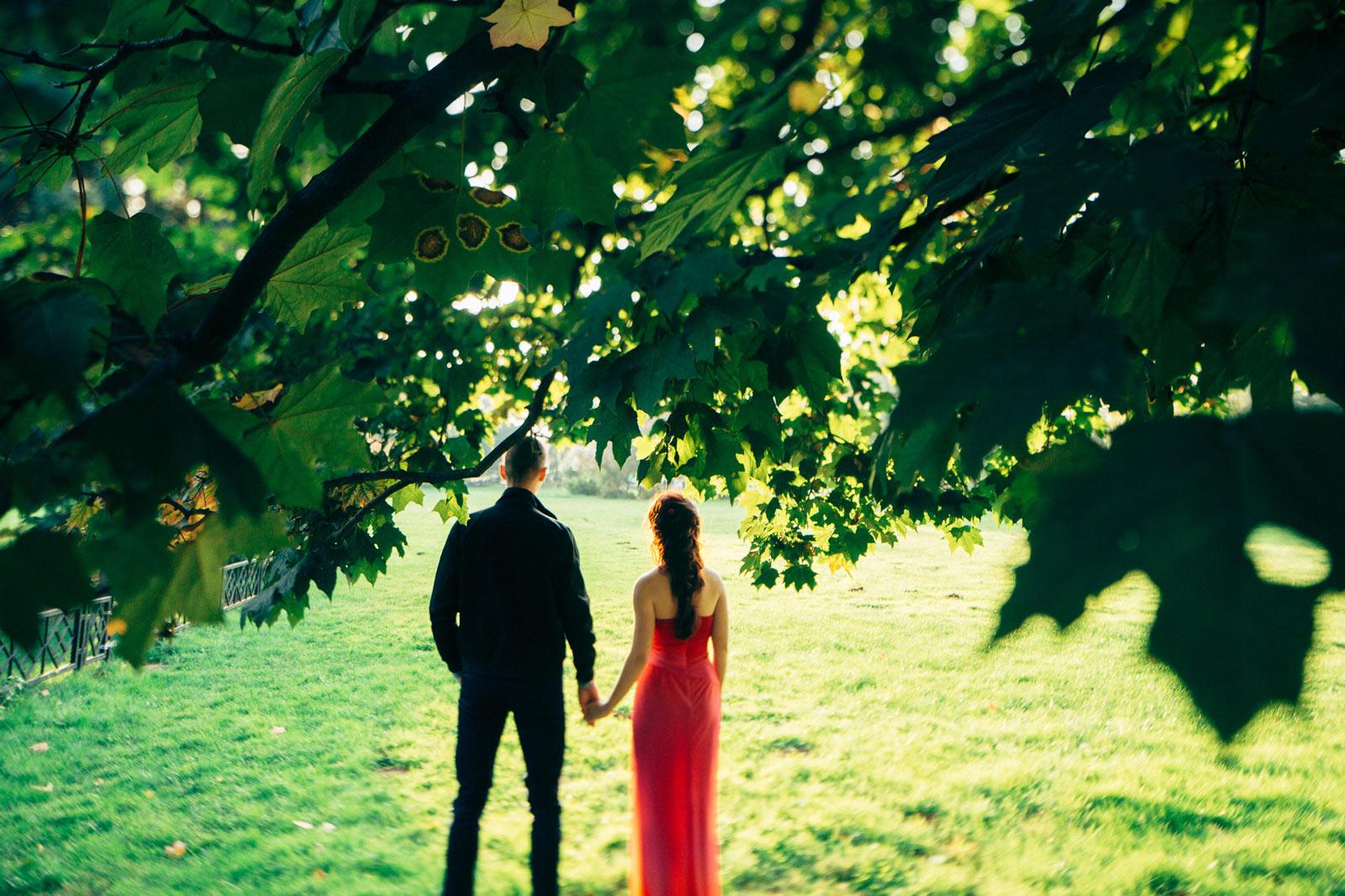Свадебный фотограф, свадебная прогулка - романтичная серия