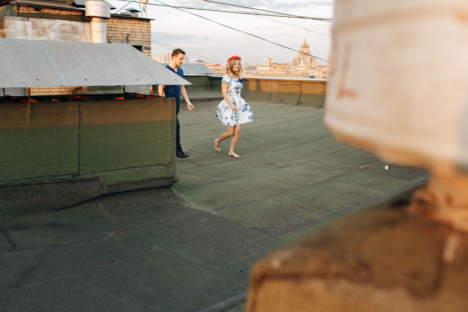 Love Story на крыше