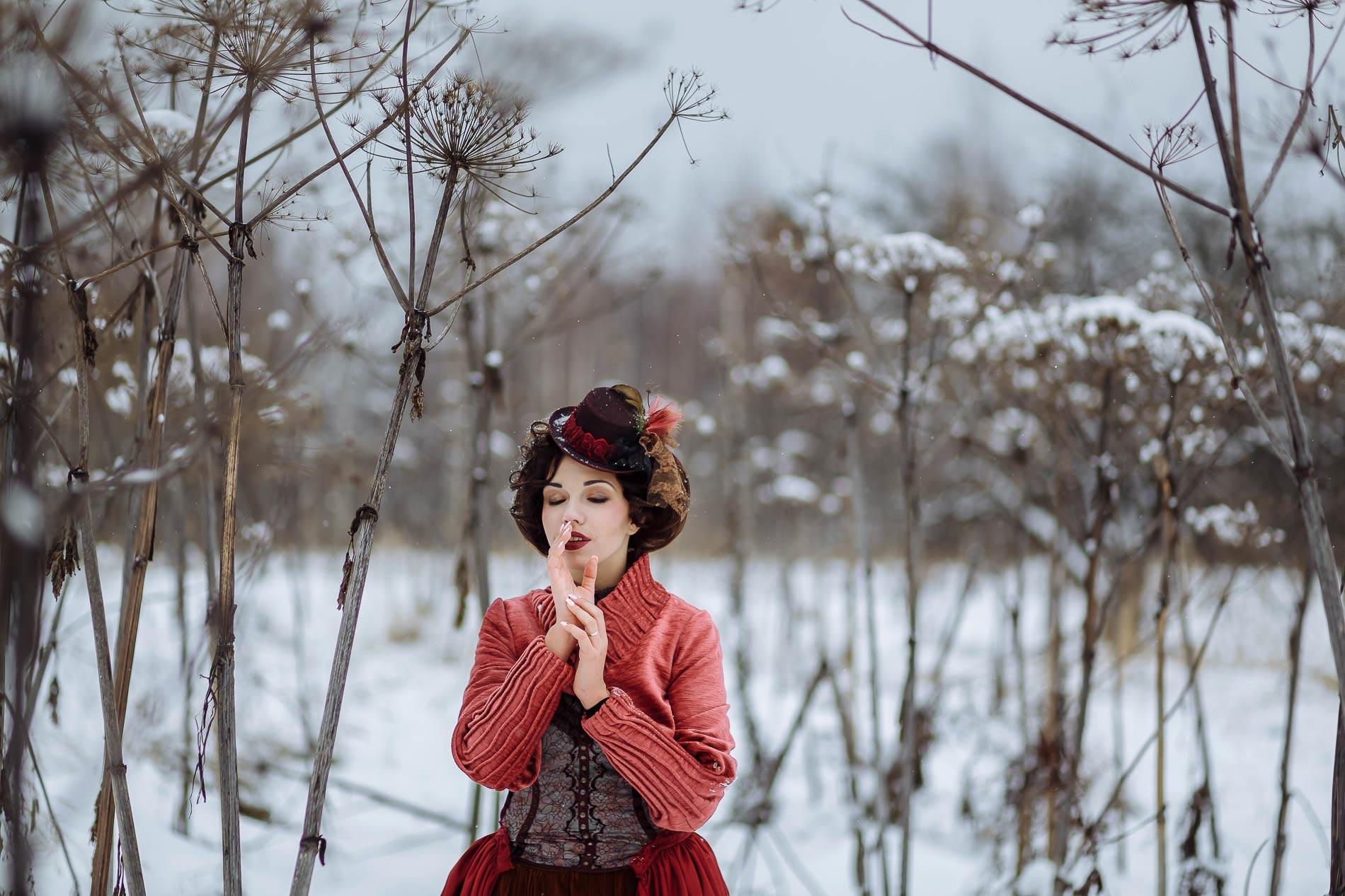 Творческая портретная съёмка зимой